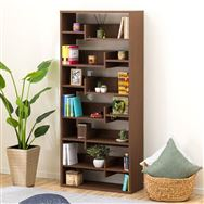 【ニトリ】 オープン書棚 メトリー1880 ミドルブラウン