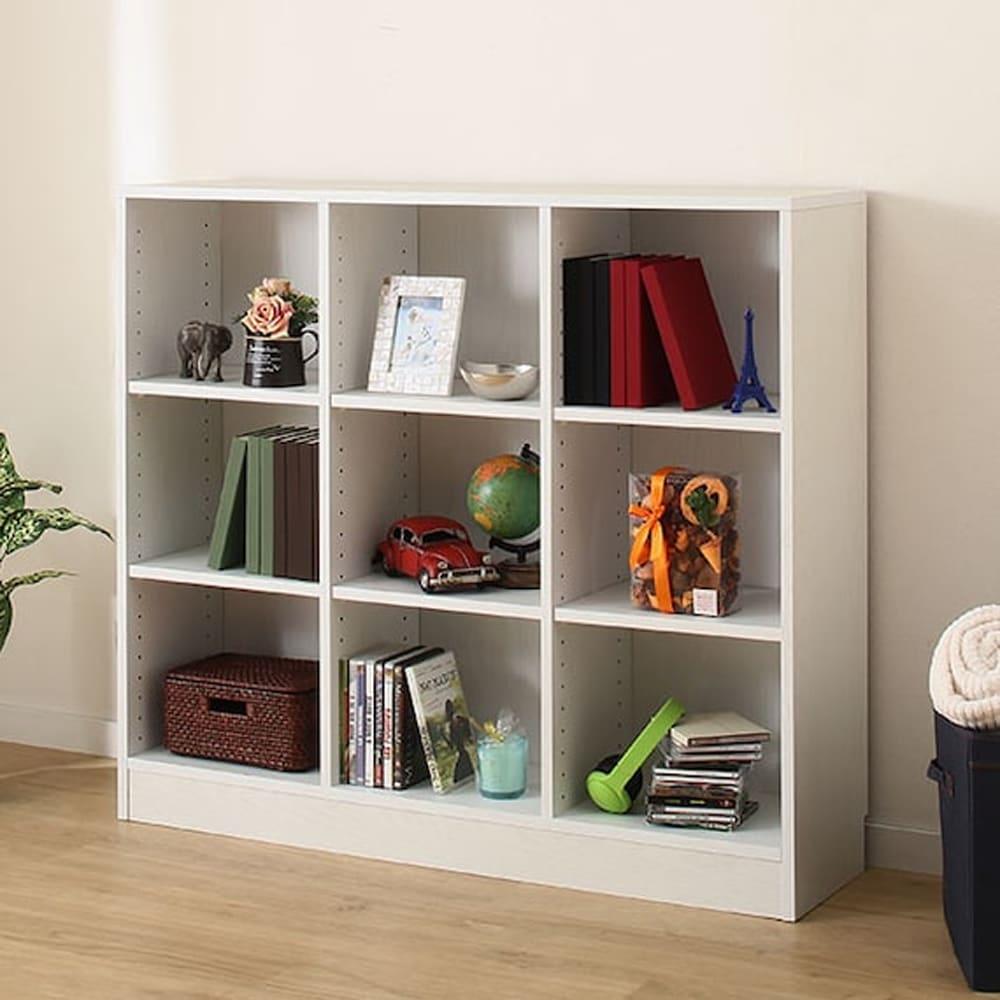 【ニトリ】 書棚 サラ 10114 WH ホワイト:木目がアクセントなシンプルな本棚