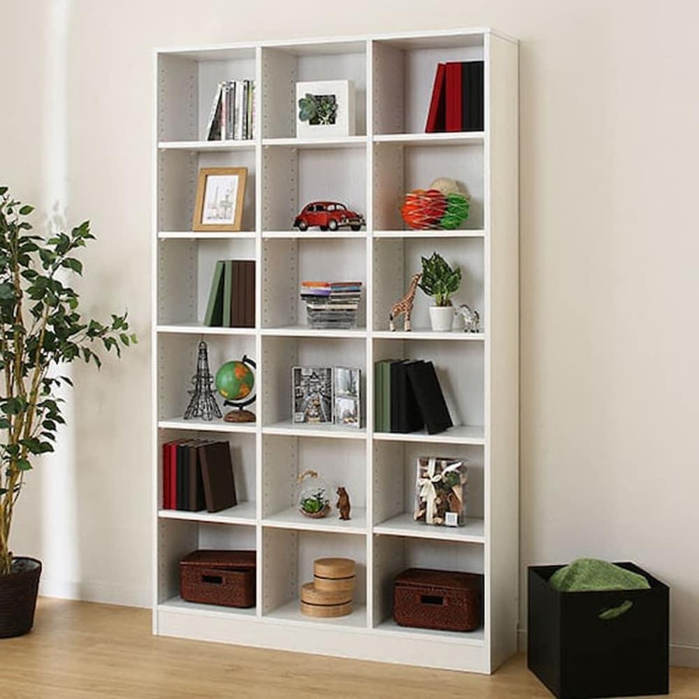 【ニトリ】 書棚 サラ 19114 WH ホワイト:木目がアクセントなシンプルな本棚