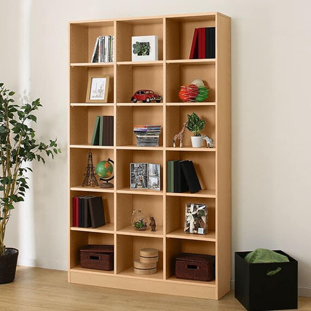 【ニトリ】 書棚 サラ 19114 NA ナチュラル:木目がアクセントなシンプルな本棚