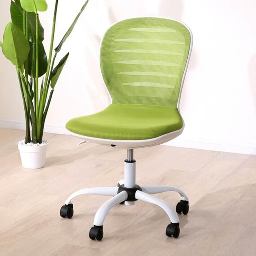 【ニトリ】 ワークチェア ヒューボ GR イエローグリーン:背もたれと座面にメッシュ生地を使用