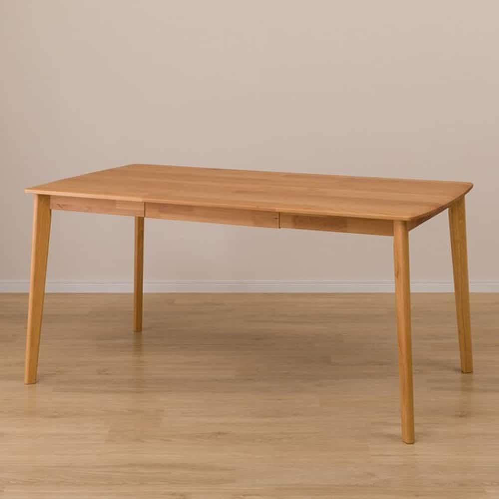 【ニトリ】 引出し付きダイニングテーブル アルナスR LBR P ライトブラウン:ダイニング学習やテレワークにも最適なダイニングテーブル。