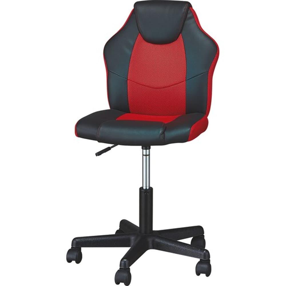 【ニトリ】 学習イス Nウィン BK/RED レッド:レーシングシートをイメージしたデザイン