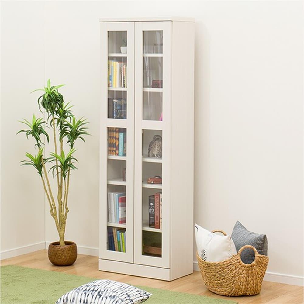 【ニトリ】 書棚 カット I 60 WW ホワイトウォッシュ:本の収納やお気に入りのディスプレイに