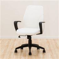 【ニトリ】 ワークチェア グリッジ 合成皮革 PVC WH ホワイト