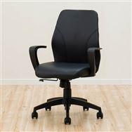【ニトリ】 ワークチェア グリッジ 合成皮革 PVC BK ブラック
