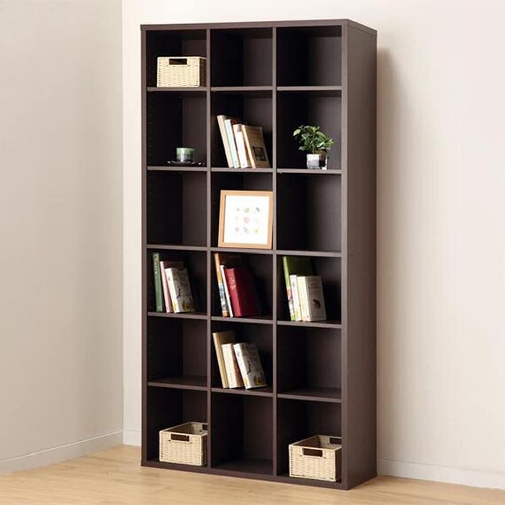 【ニトリ】 書棚 グレン BS1890 DBR ダークブラウン:見せる収納としても活躍するオープン本棚
