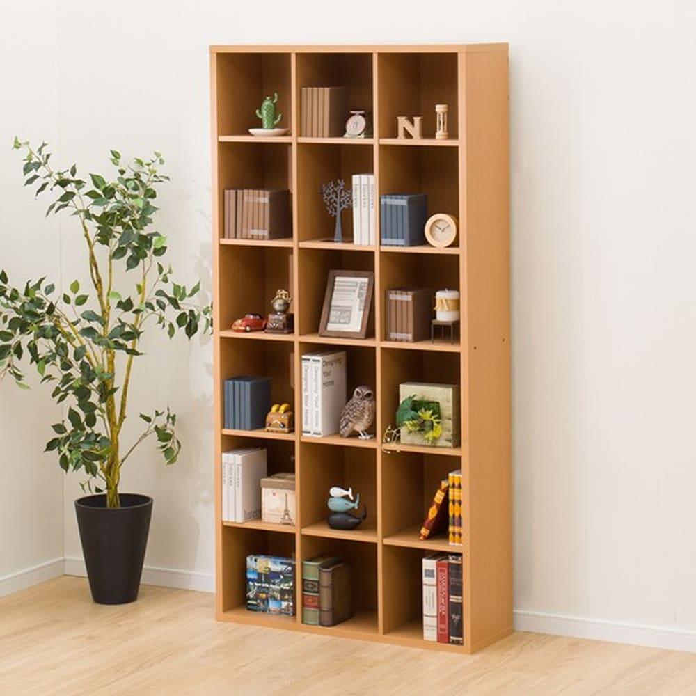 【ニトリ】 書棚 グレン BS1890 LBR ライトブラウン:見せる収納としても活躍するオープン本棚