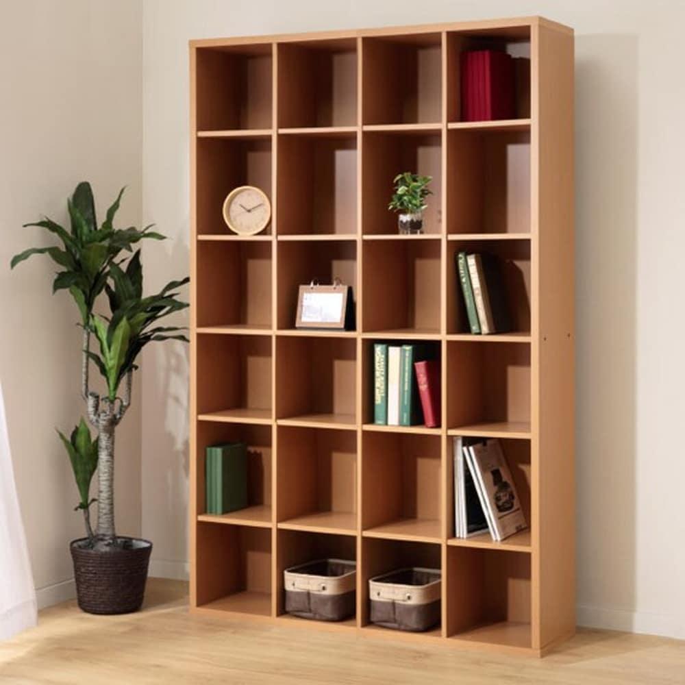 【ニトリ】 書棚 グレン BS18120 LBR ライトブラウン:見せる収納としても活躍するオープン本棚