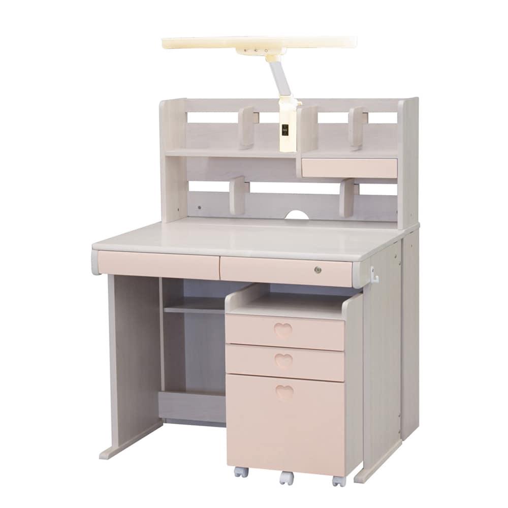 組みかえ型デスク ESシリーズ MWD−520/HTL−12W WW−PI:ラバーウッドを生かした、木の温かみとやさしさを感じるデザイン