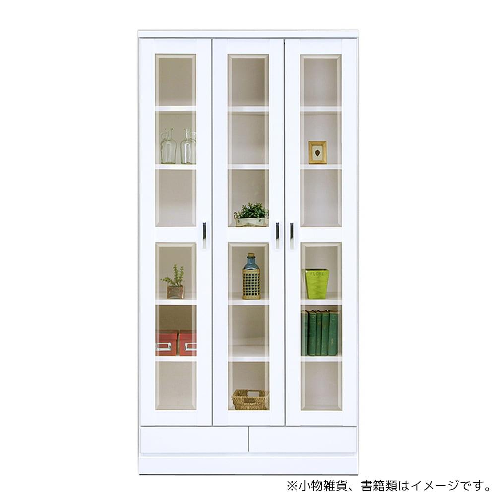 フリーボード オペラ�U90FB(WH) ホワイト:扉にはソフトクローズ丁番使用、下部には小物の収納に便利な引き出し2杯付き