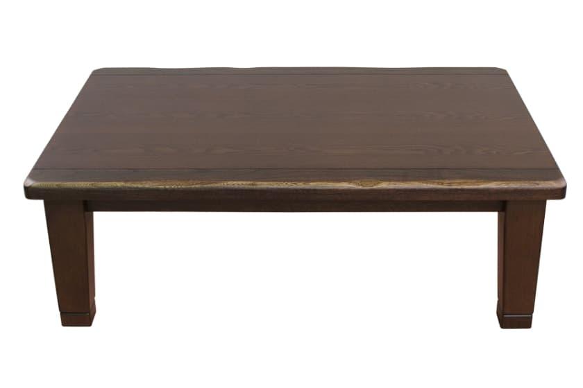 【国産】石英管ヒーターこたつ 駿河(120):◆天板表面の木目のう造り技法により、凸凹を強調し木目感を高めました。