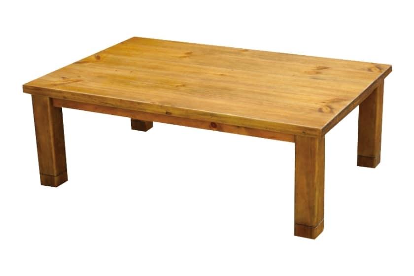 ハロゲンヒーターこたつ きつつき(120):◆天板はパイン材突板を使用したカントリーテイスト。