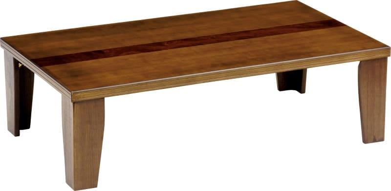 座卓 軽量ジョイ 120BR(ブラウン):座卓