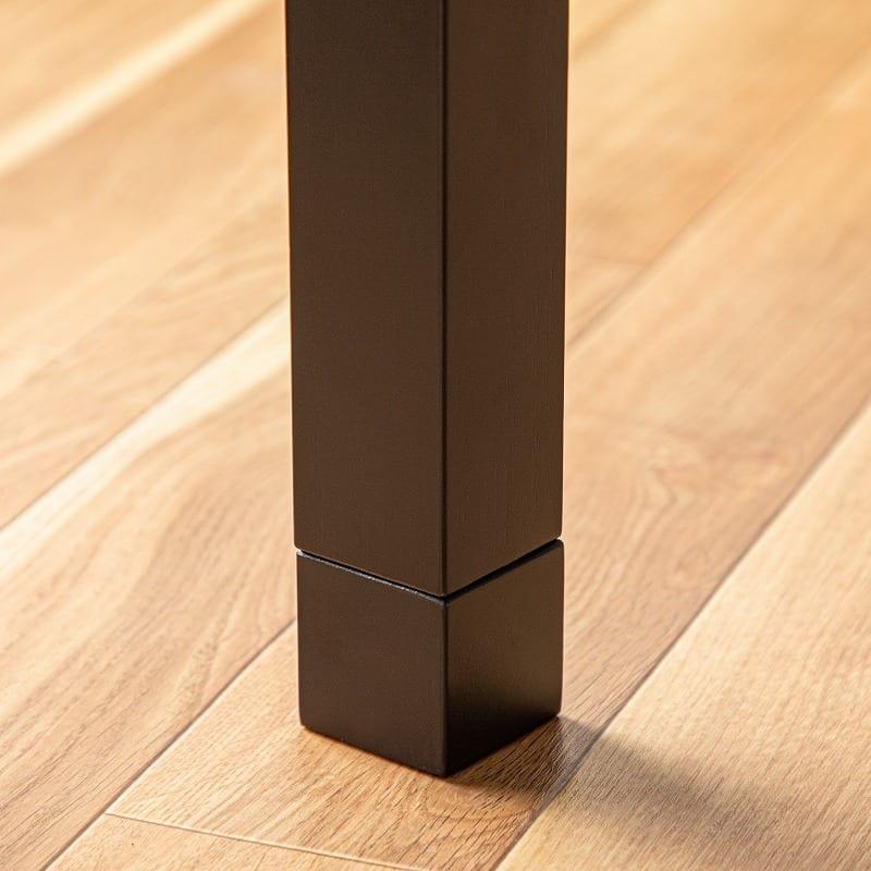 【アンティーク風】ハロゲンヒーターこたつ ゼブラ 105cm:継ぎ足仕様