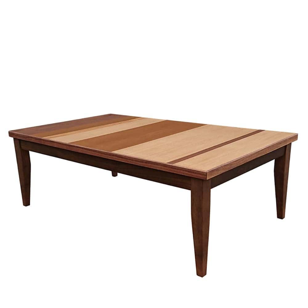 座卓 ロザン120 ブラウン:天板の取り外し自由な座卓テーブル