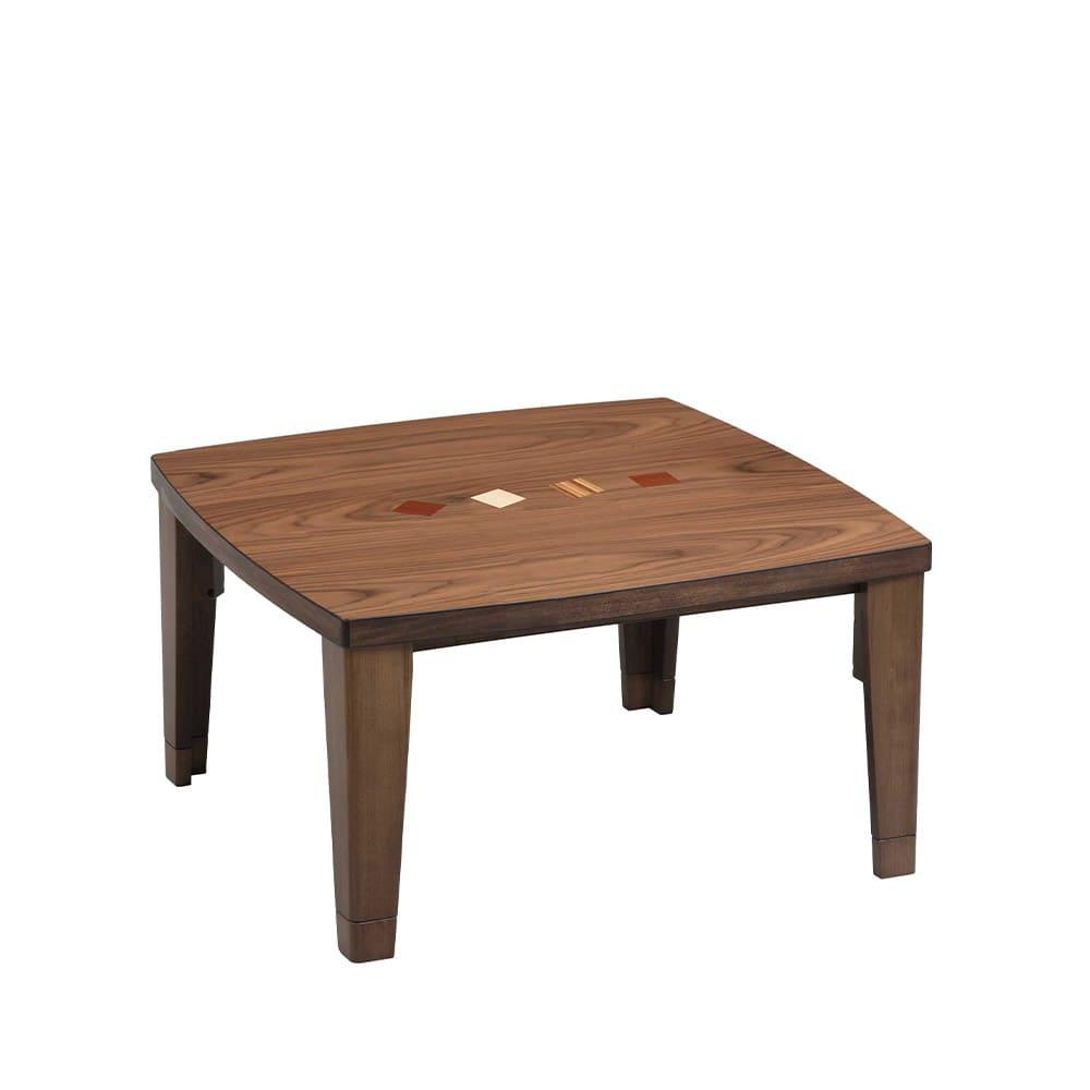 暖卓 チョコ�U 80 BR:ソファーに合わせセンターテーブルとしても使えるデザイン。