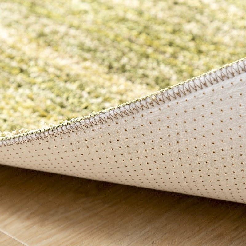 ラグ リュストル200×200円形(Fグリーン):裏面の滑り止め加工