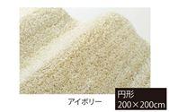 ラグ リュストル200×200円形(アイボリー)