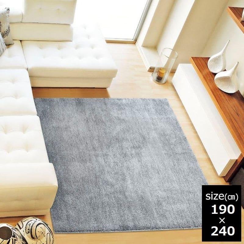 ラグ MC−100 190×240 グレー:「ムシカビクリーン」のカーペット