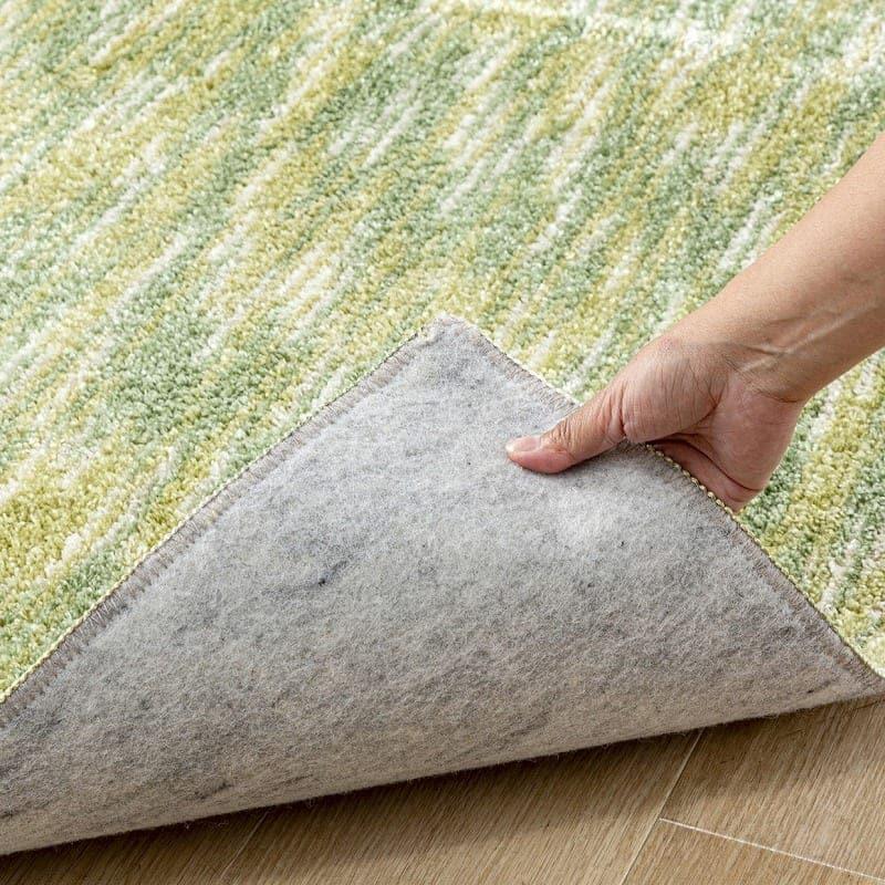 ひんやりラグ スーパークールストリーム 130×190 グリーン(35):防ダニ・抗菌加工