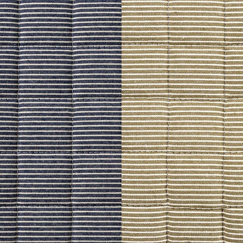防ダニラグ ヒッコリー 185×240 ネイビー:選べるカラーは2色