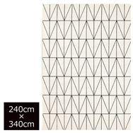 輸入カーペット ネオ 240×340(ホワイト)