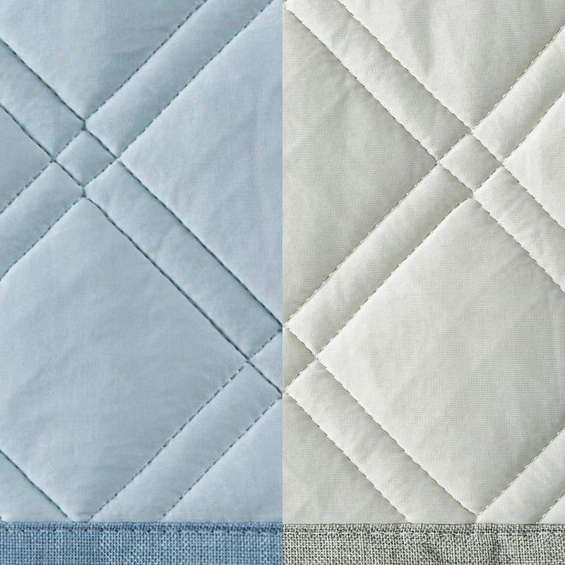ひんやりラグ セイラ 185x185 GY:選べるカラーは2色