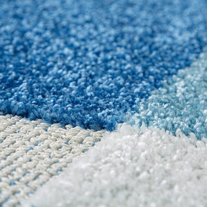 ひんやりラグ カレント130X190ブルー:選べるカラーは3色