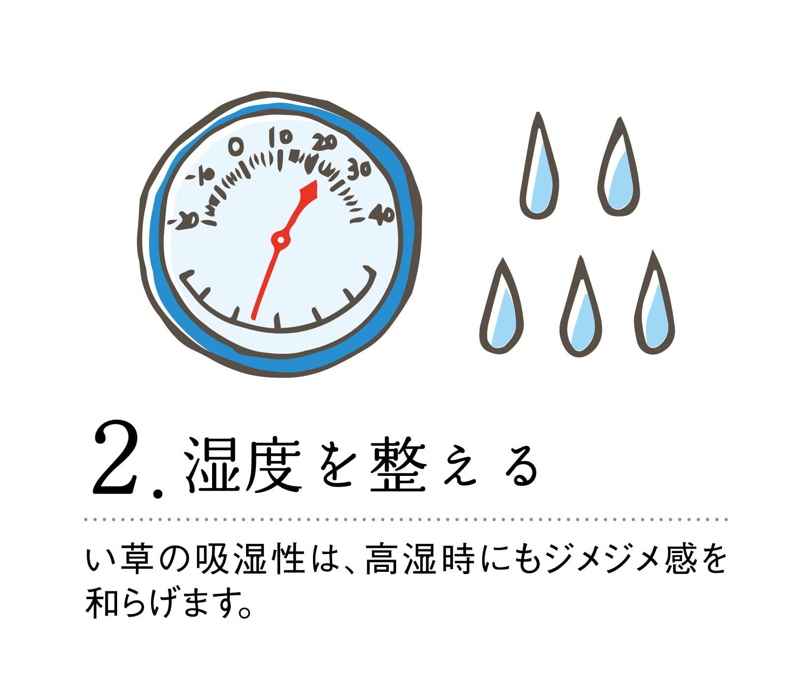 撥水い草ラグ CXダイヤ 190X190 BR