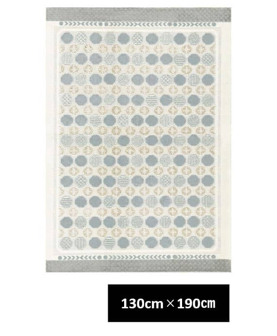 ハナソワ 130×190 ブルーグレー
