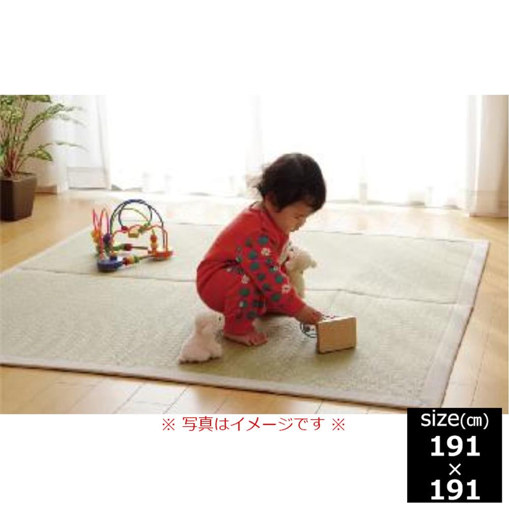 い草ラグ F 無垢 191x191 NA