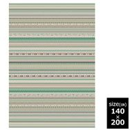 国産モケット織ラグ ルース 140×200cm グリーン