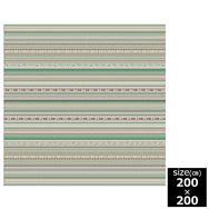 国産モケット織ラグ ルース 200×200cm グリーン