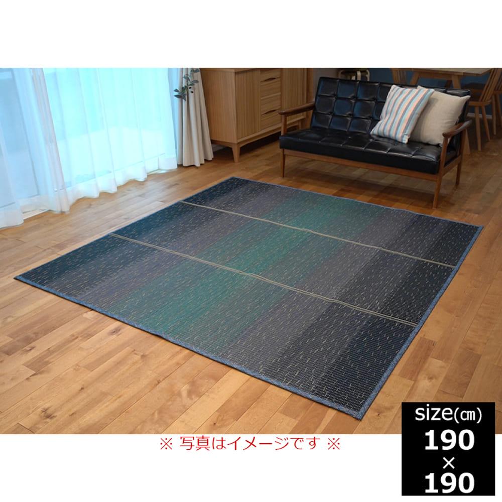 い草 CXクリア 190×190 BL:さらっと快適、い草素材