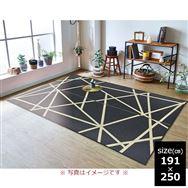 い草ラグ Fトレビュー 191×250 BK