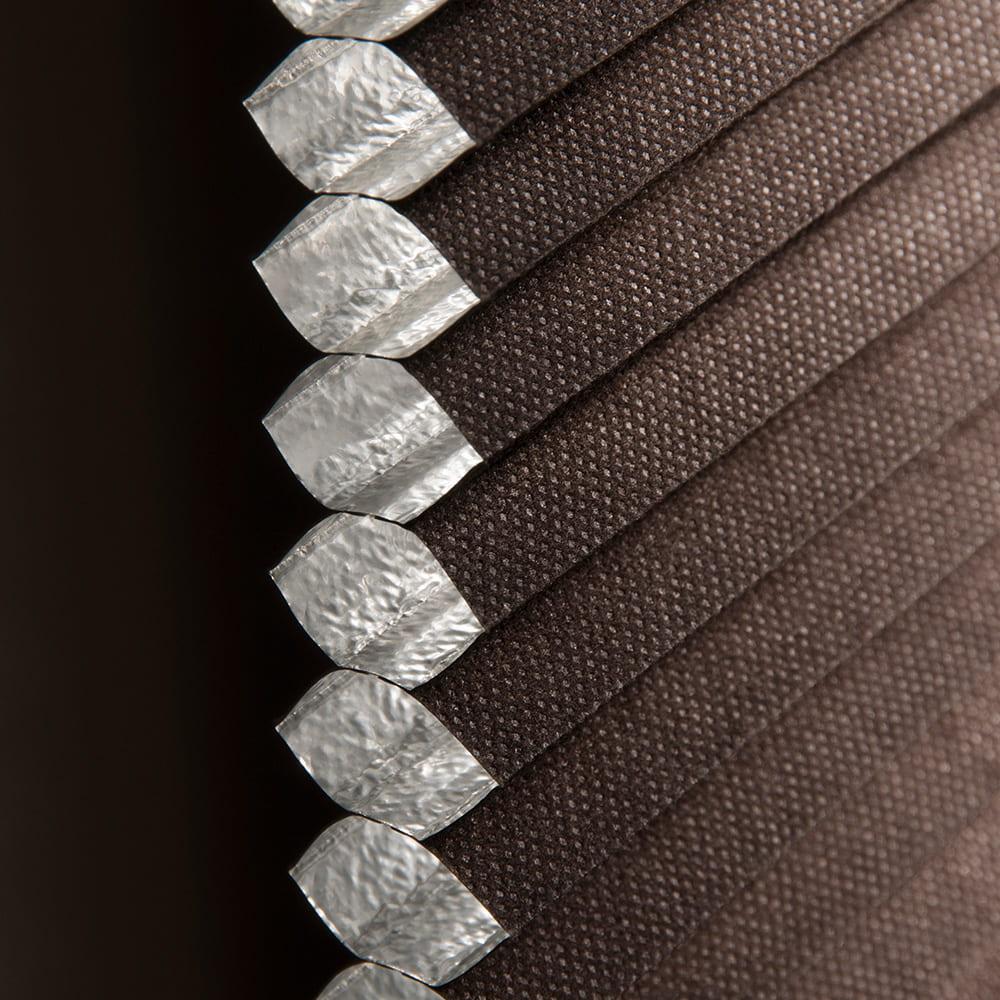 ハニカムシェード彩遮光 プレミアム180x180cmDBR:ハニカムプリーツシェード彩遮光