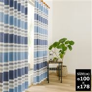 既製2枚組 デニス 100×178【2枚組】 ブルー
