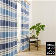 既製2枚組 デニス 100×200【2枚組】 ブルー