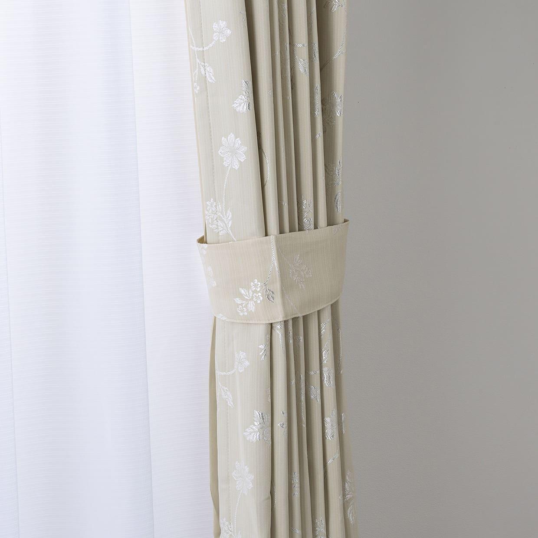 ドレープカーテン ピコロ裏付き 100×135【2枚組】
