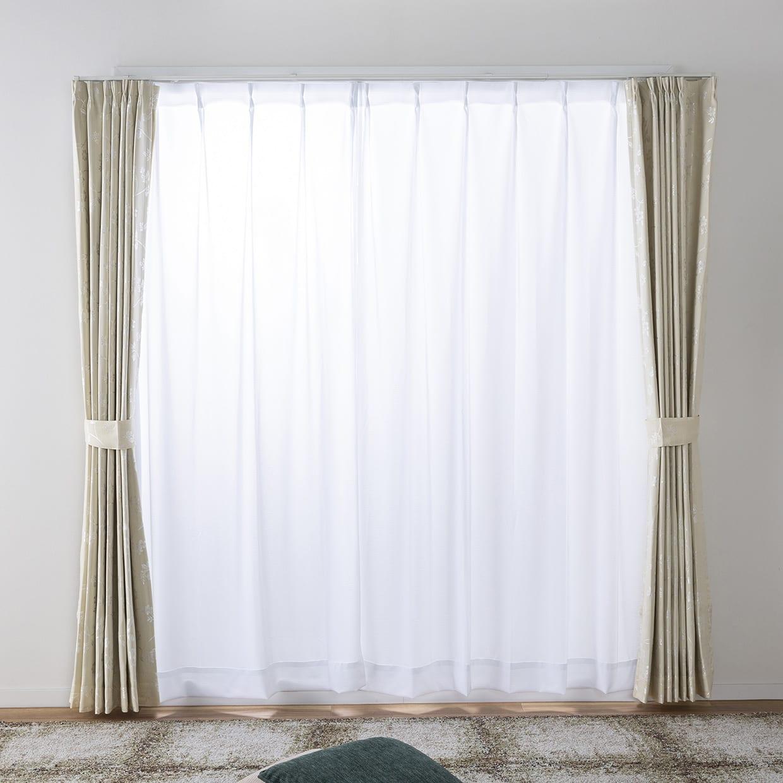 ドレープカーテン ピコロ裏付き 150×178【2枚組】