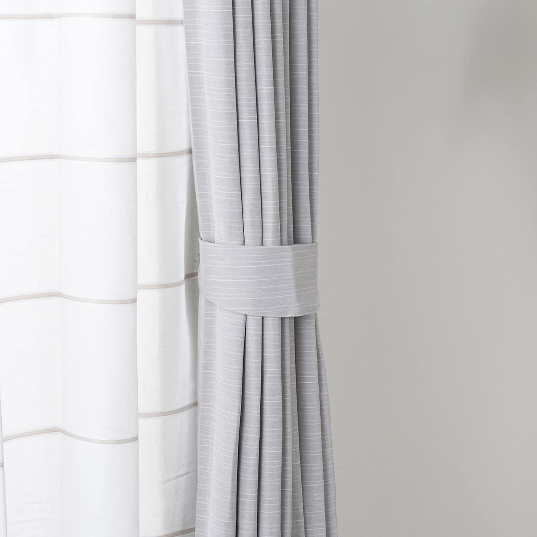 ドレープカーテン ルービンLGRY 100×135【2枚組】