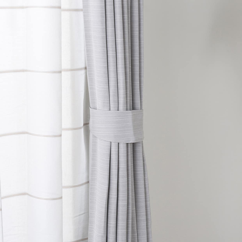 ドレープカーテン ルービンBL 100×178【2枚組】