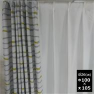 ドレープカーテン【2枚組】コルソ 100×105 YE