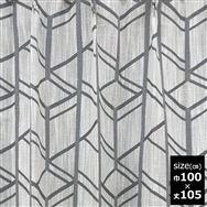 ドレープカーテン【2枚組】カルテ 100X105 GY