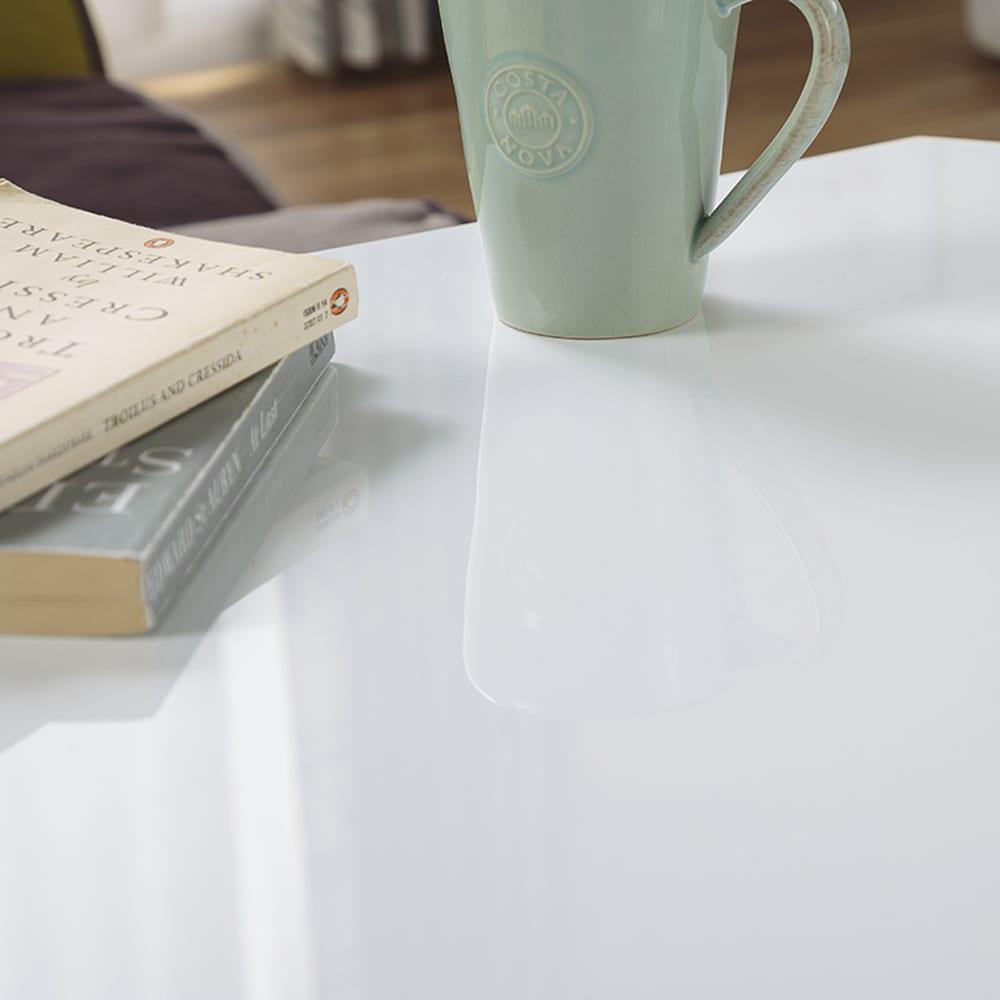 鏡面折りたたみテーブル 20−151 WH