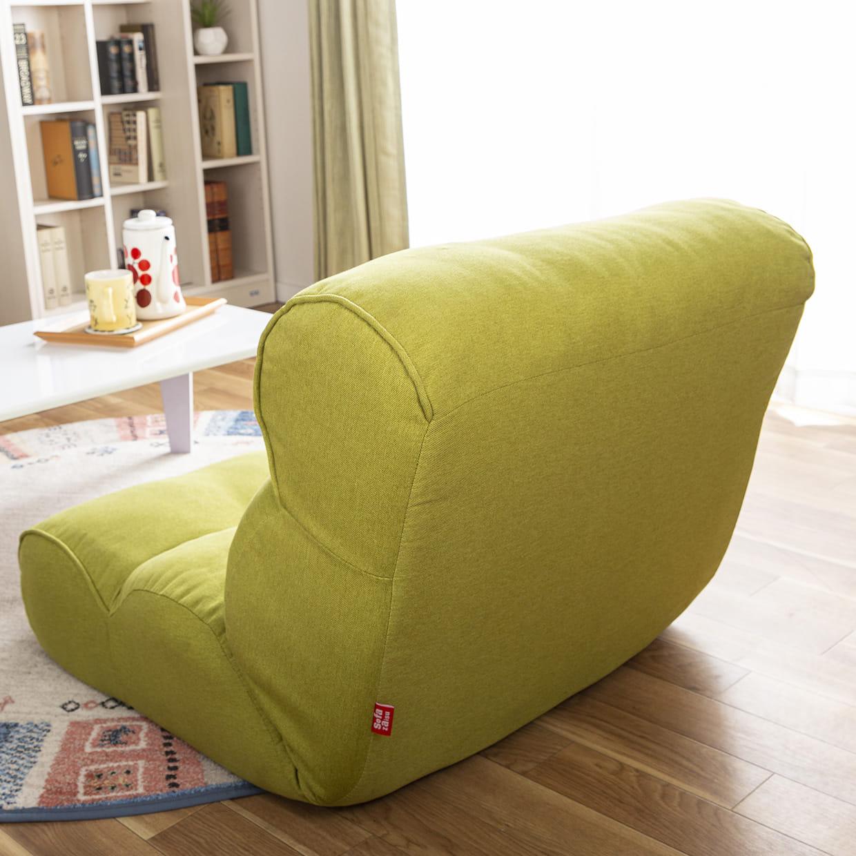 1人掛けソファ ピグレット セレクト(グリーン):背面もきれいに布張り