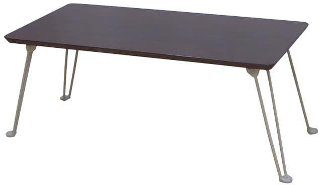 シンプルテーブル PUT−8040M DBR R (ダークブラウン)