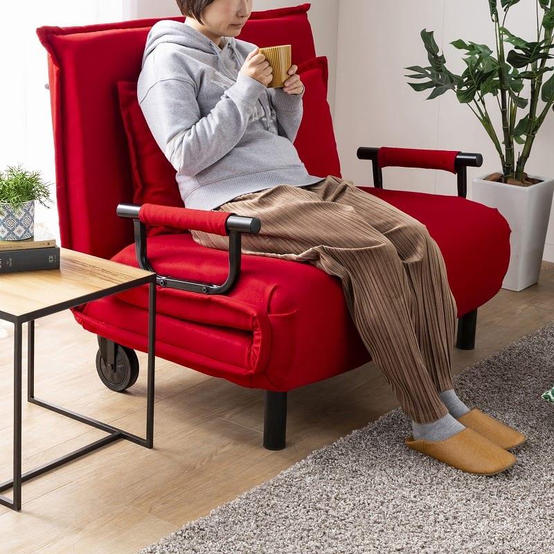 ソファーベッド ビータアクティブ (ブラック):ソファにしても座り心地しっかり