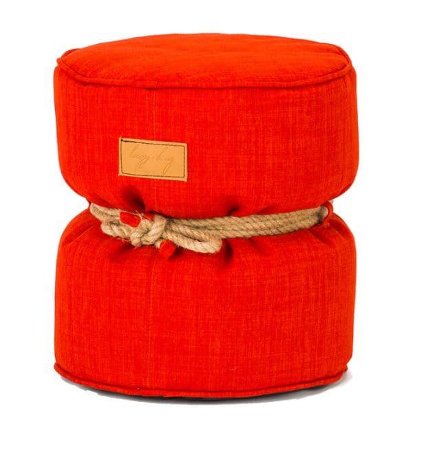 スツールクッション アルモ 301−BB オレンジ:たっぷりのビーズで抜群のフィット感が魅力